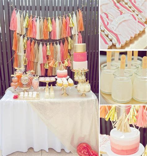 Pink And Gold 1st Birthday Decorations by Orange Pink Gold 1st Birthday Via Kara S