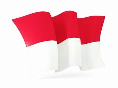 Indonesia Flag Transparent Background Waving Animated Illustration