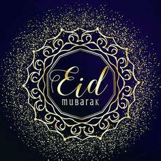 black color design background eid mubarak  vector