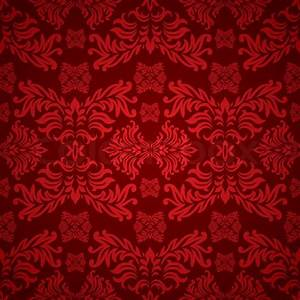 Red and maroon floral background with a seamless repeat