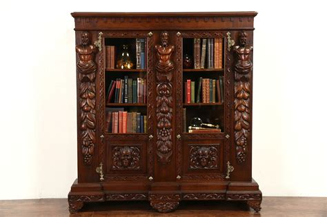 sold italian renaissance carved  antique walnut