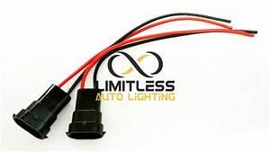 2 Pcs H11 H8 880 881 Headlight Fog Light Male Plug Pigtail