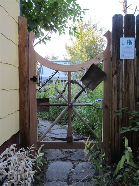 backyard gate montana wildlife gardener a repurposed garden tool garden gate