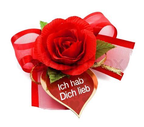 rote rose mit karte ich hab dich lieb ich liebe dich