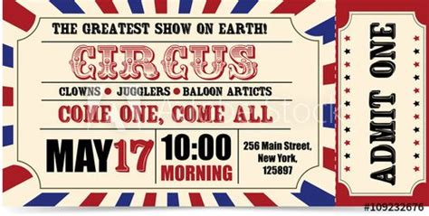 circus ticket circus ticket circus ticket design