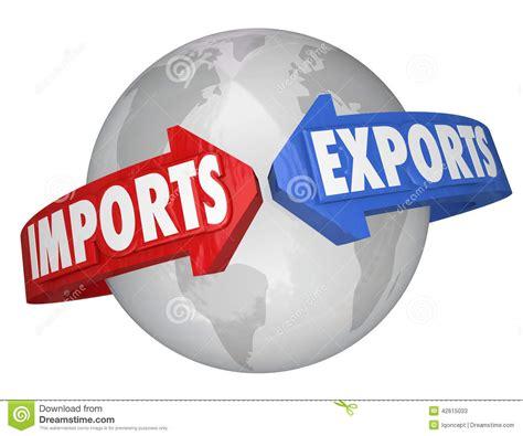 Imports Exports Arrows Around World Global International