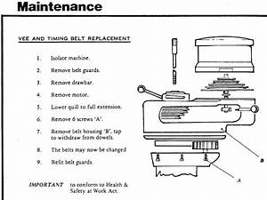 Bridgeport Step Pulley Belt Change Instructions