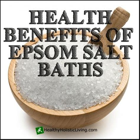 health benefits of salt ls the remarkable health benefits of epsom salt baths epsom