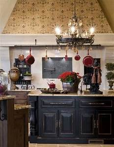 Black Round French Country Style Chandeliers For Kitchen