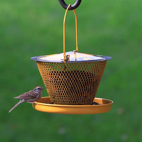 no no designer single tier mesh bird feeder with tray