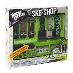 tech deck sk8 shop bonus pack 3 x finger board skateboard 3 x decks rack