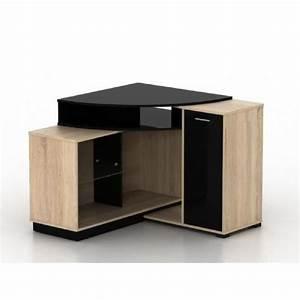 Meuble De Tv D Angle : meuble tv d 39 angle amael avec rangements coloris ch ne ~ Preciouscoupons.com Idées de Décoration