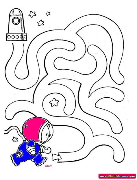 free astronaut maze worksheet crafts and worksheets for 986 | 993abc200b06543e88e6e56f37fc4980