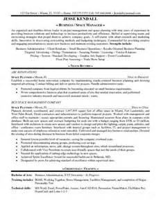 Planner Resume Format by Exle Space Planner Resume Free Sle