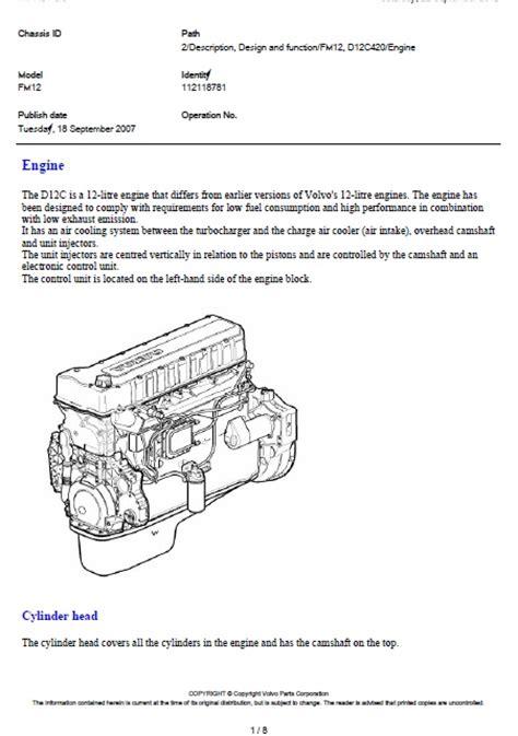 volvo fm dc  engine auto repair manual forum