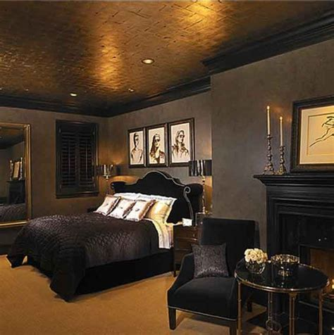 Black And Gold Bedroom Design Ideas by Best 25 Gold Ceiling Ideas On Fireplace