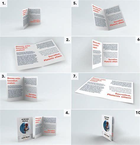 A4 Bifold Brochure Mockup 75 Free Psd Magazine Book Cover Brochure Mock Ups