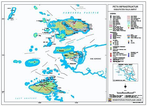 peta kota peta kabupaten raja ampat
