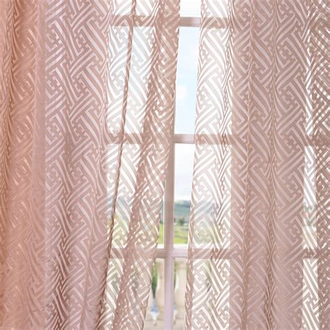 Pattern Drapes - half price drapes zara patterned sheer single curtain