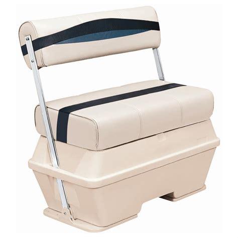 Best Pontoon Boat Cooler by Wise 174 Premier 70 Quart Cooler Flip Flop Pontoon Seat