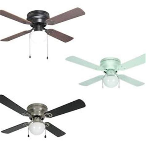 42 inch flush mount hugger ceiling fan w light kit bronze