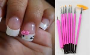 Types of nail art brushes their uses
