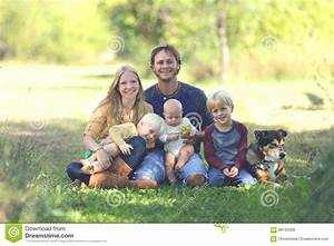 Happy Christian Family On The Grass Royalty-Free Stock ...