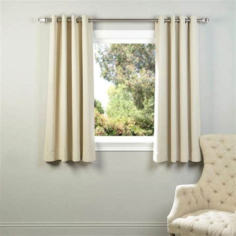 ivory 63 x 50 inch grommet blackout curtain panel pair