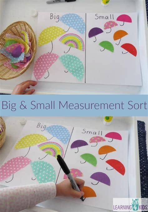 big  small measurement sort learning  kids