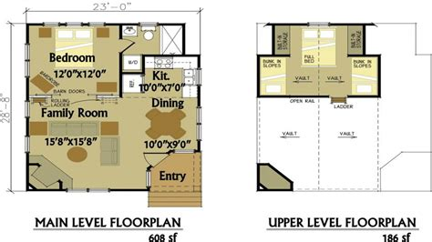 cottage floorplans small cabin floor plans with loft 2 bedroom cabin floor