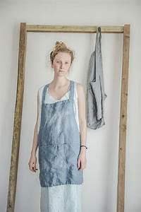 Not Perfect Linen : not perfect linen short square cross linen apron swedish blue hafen ~ Buech-reservation.com Haus und Dekorationen
