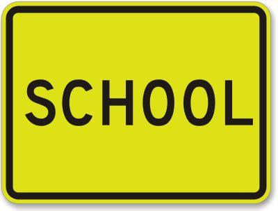 school sign fluorescent diamond grade school sign sku k 2013