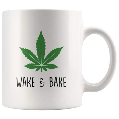 High quality wake and bake inspired mugs by independent artists and designers from around the world. Wake And Bake Weed Funny Gift For Bud Stoner T Shirt 420 Men Women White Coffee Mug - T-Shirt Store