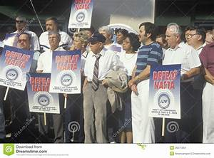 Union Workers Protesting NAFTA Editorial Stock Image ...
