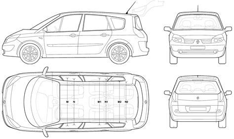 2006 renault grand scenic minivan blueprints free outlines