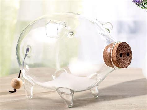 sparschwein aus glas carlo spardosen deko xl sparschwein aus glas 21