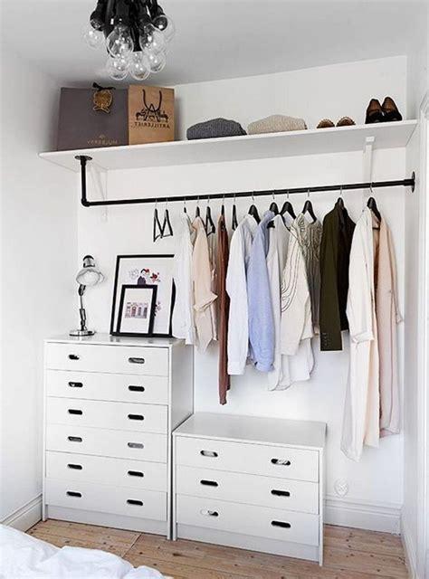 Simple Bedroom Closet Ideas by 40 Creative But Simple Clothing Rack Design Ideas Decor