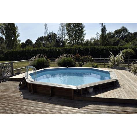 piscine semi enterr 233 e en bois sur piscine lareduc