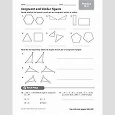 Congruent And Similar Figures Worksheet For 4th  6th Grade  Lesson Planet