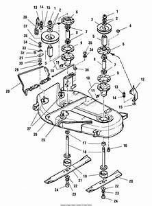 Simplicity 1692358 - 38 U0026quot  Mower Deck Parts Diagram For 38 U0026quot  Mower Deck