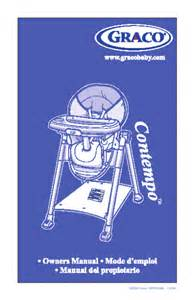 graco high chair 35610 user s guide manualsonline com