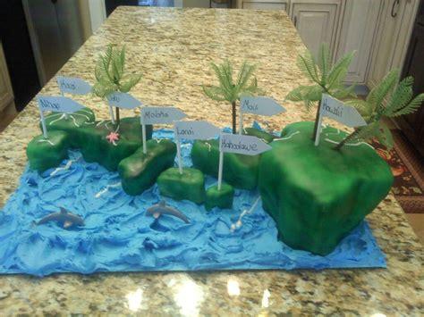 daughters social studies project hawaii cake