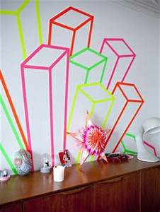 Neon Deco Chambre : 1000 images about washi frames walls on pinterest washi tape wall washi tape and washi ~ Melissatoandfro.com Idées de Décoration
