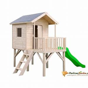 Cabane Exterieur Enfant : cabane enfant bois exterieur ~ Melissatoandfro.com Idées de Décoration