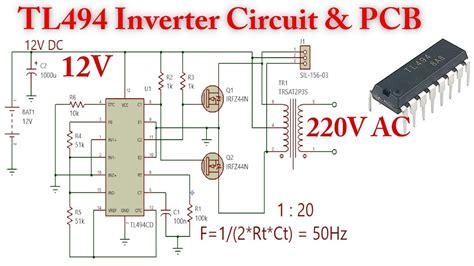 Tl494 Inverter 12v 220v by Tl494 Inverter Circuit 12v To 220v Ac