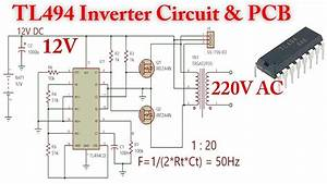 Tl494 Inverter Circuit  12v To 220v Ac