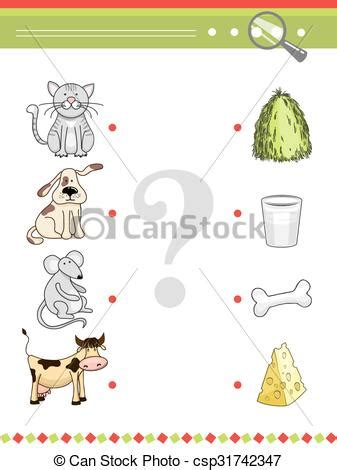 matching game  preschool children book cartoon vector