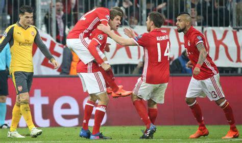 Bayern Munich dispatch 10-man Arsenal in one-sided Champions League affair