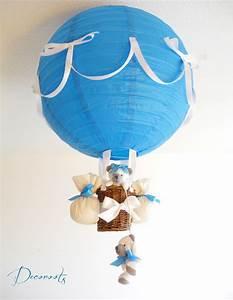 Lustre Montgolfière Bebe : lampe montgolfi re b b ours cr ation artisanale ~ Teatrodelosmanantiales.com Idées de Décoration