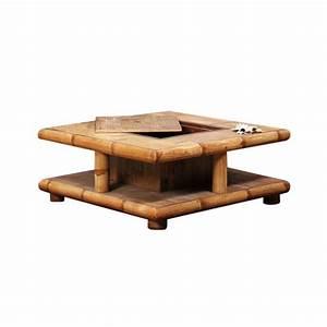 Table Basse Coffre Bar : table basse bambou naturel avec coffre bar tao 4126 ~ Teatrodelosmanantiales.com Idées de Décoration